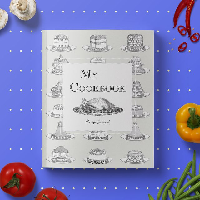 My Cookbook : Recipe Journal With Customizable Sections