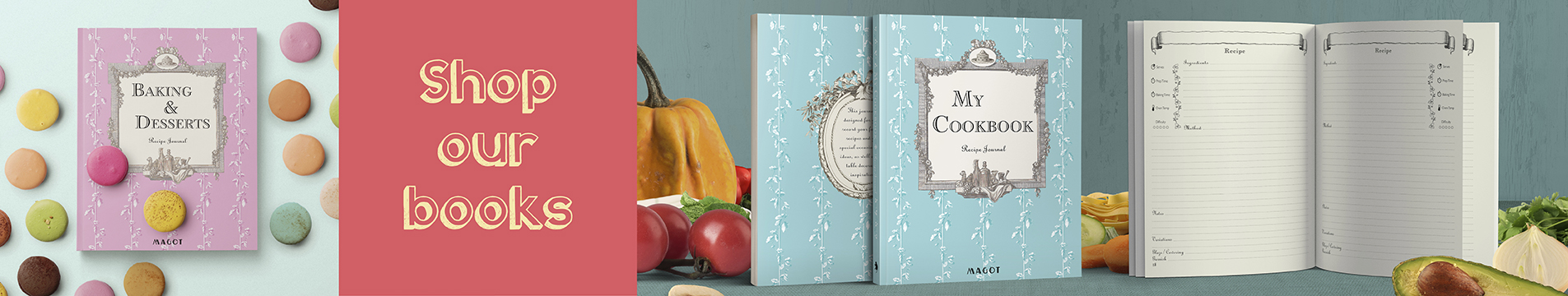 Shop MAGOT recipe journals - MAGOT books