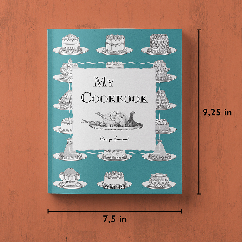 My Cookbook : Recipe Journal - Organized into sections by type of dish - by MAGOT Books - book size