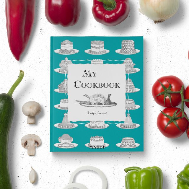 My Cookbook : Recipe Journal - Organized into sections by type of dish - by MAGOT Books -t7