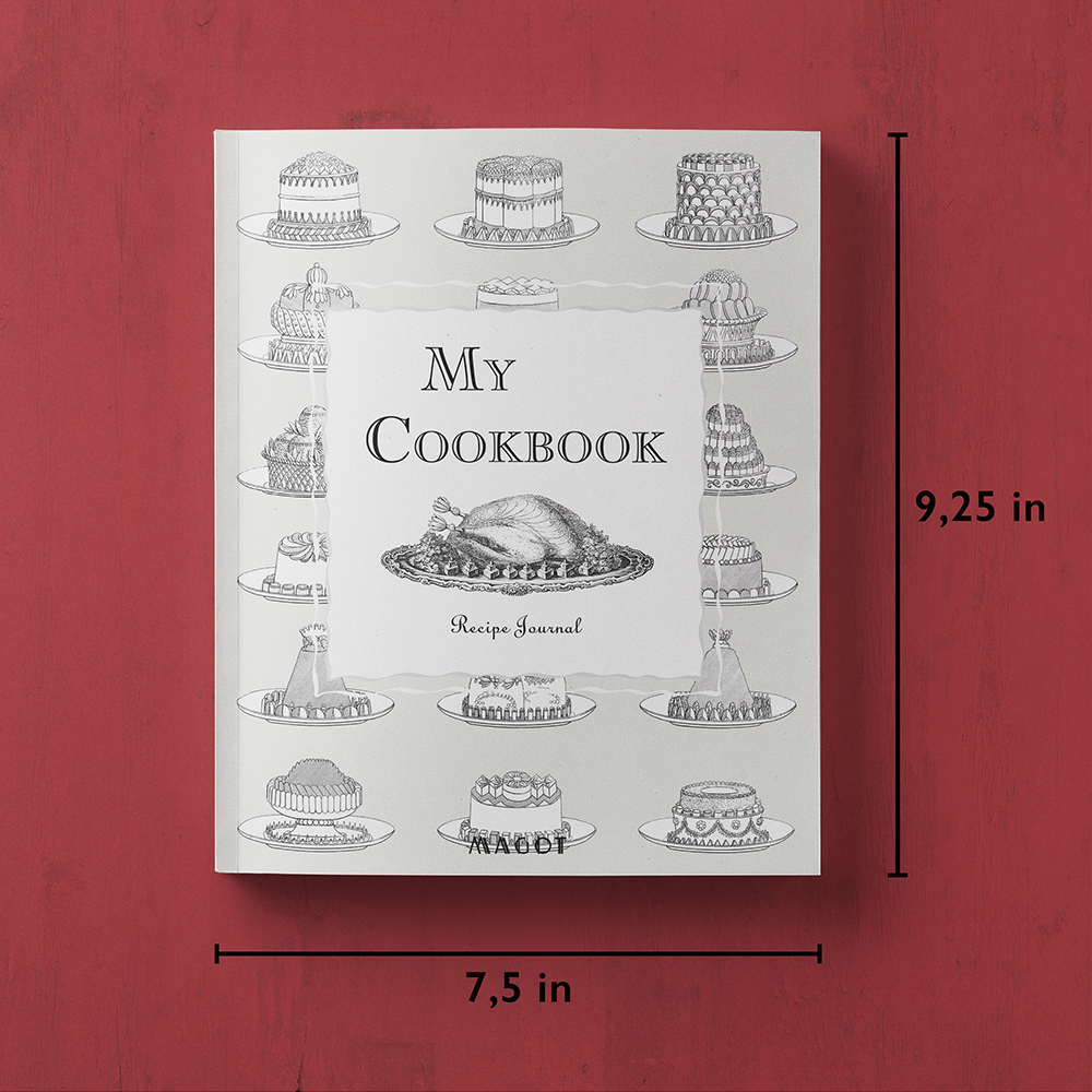 My Cookbook : Recipe Journal - With customizable sections - by MAGOT Books - book size